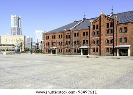Yokohama Red Brick Warehouse in Japan - stock photo