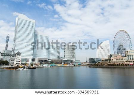 Yokohama skyline - stock photo