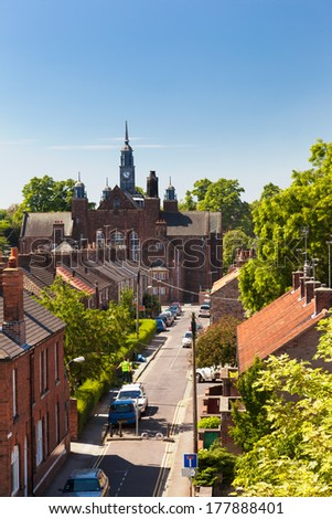 YORK, ENGLAND - JUNE 17, 2010: Residential area of York, a city in North Yorkshire, England
