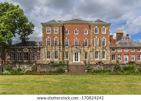 York House is an historic stately home in Twickenham, England in London Borough of Richmond upon Thames. It is situated in Richmond Road, near the centre of Twickenham. York House dates to the 1630. - stock photo