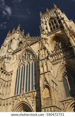 York Minster Cathedral, York, England - stock photo