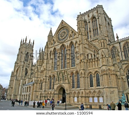 York Minster (England's largest medieval church) - stock photo