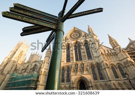 York Minster, York - stock photo