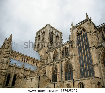 York Minster York, England on a grey day - stock photo