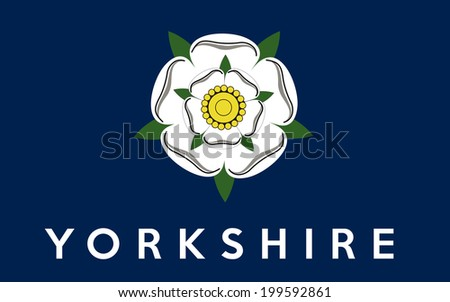 yorkshire county people ethnic england country flag computer generated - stock photo