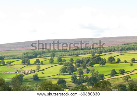 Yorkshire dales view - stock photo