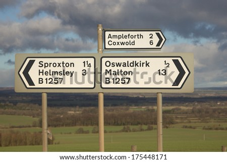 Yorkshire road sign  - stock photo