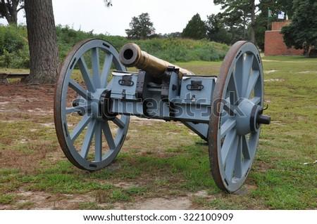 Yorktown Battlefield in Virginia - stock photo