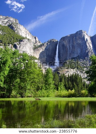 Yosemite falls. Yosemite national park. California. USA - stock photo