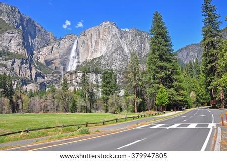 Yosemite Falls, Yosemite National Park, USA - stock photo