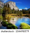 Yosemite landscapes - stock photo