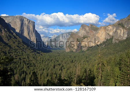 Yosemite National Park, California, Inspiration Point overlook