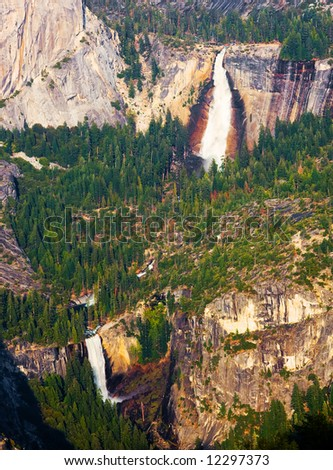 Yosemite National Park from above - stock photo