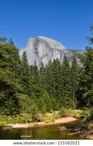 Yosemite National Park - Half Dome - stock photo
