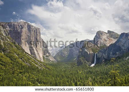 yosemite national park, scenic landscape - stock photo