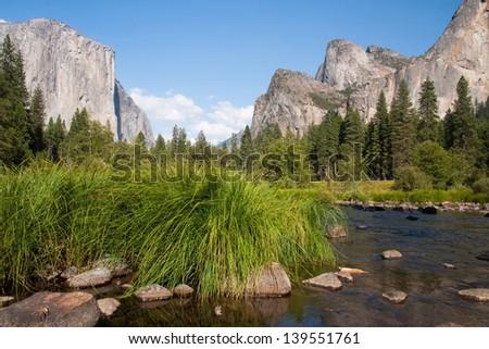 Yosemite view - El Capitan - stock photo