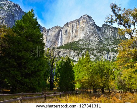 Yosemite Waterfalls in Yosemite National Park,California - stock photo