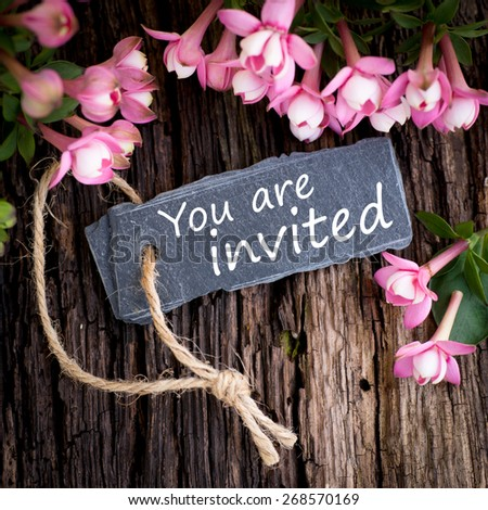 You are invited - stock photo