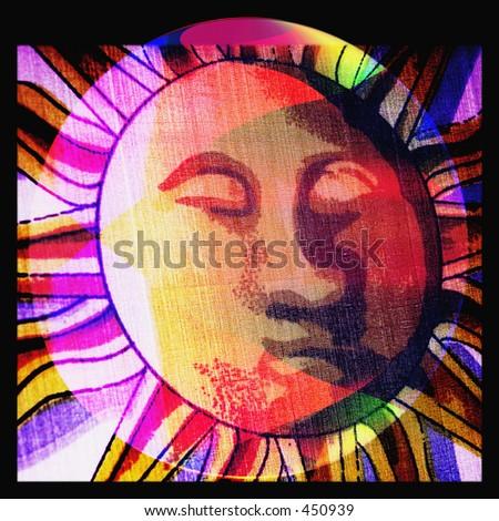 You are my sun - Love - - stock photo