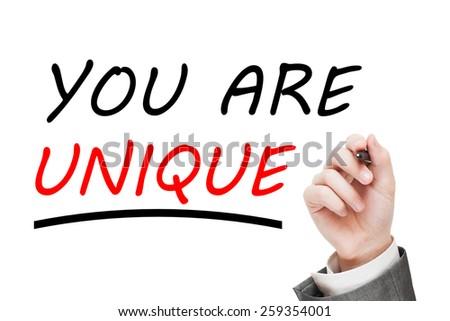 You are Unique! - stock photo