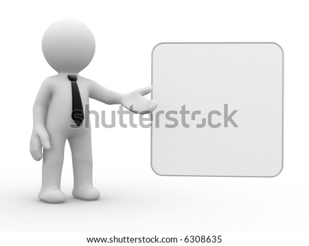 you can place what ever you want in empty board - stock photo