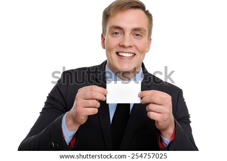 You can trust me, this is the company's details, which I am representing.   - stock photo