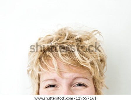 You know the expression... Smile with the eyes ! - stock photo