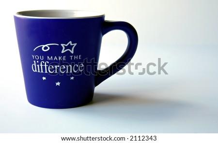 You Make the Difference Coffee Mug - stock photo