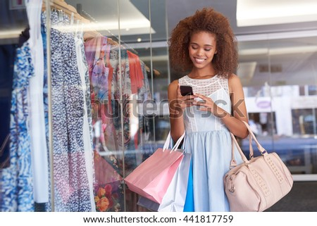 You're missing so many great sales at the mall - stock photo