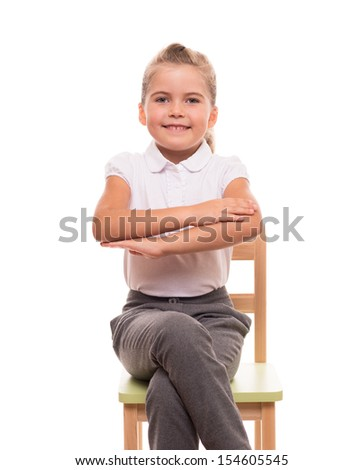 You shoold sit at a desk like this