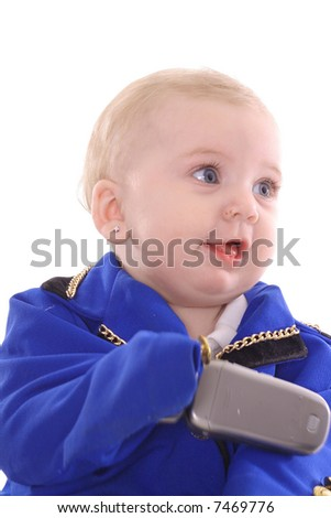 you take the call - stock photo