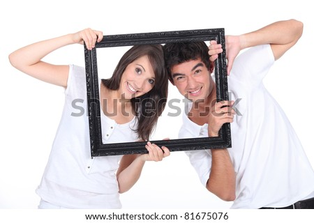 You've been framed! - stock photo