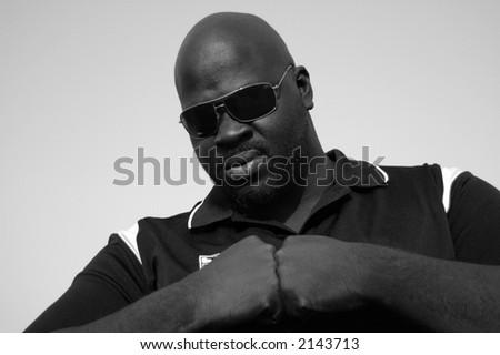 You wanna mess with me?  Huh, tough guy??? - stock photo