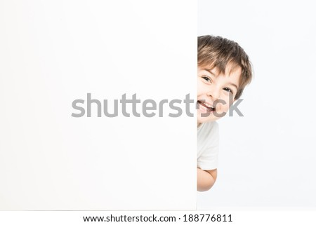Yound child boy giggling with perfect expression showing joy - stock photo