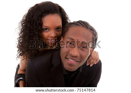 Young African American Couple - stock photo