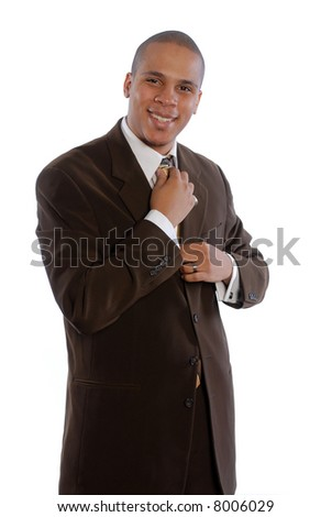 Young African American Male in Business Suit