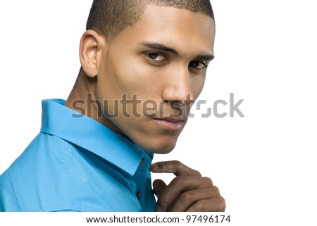 Young African American Male Model - stock photo