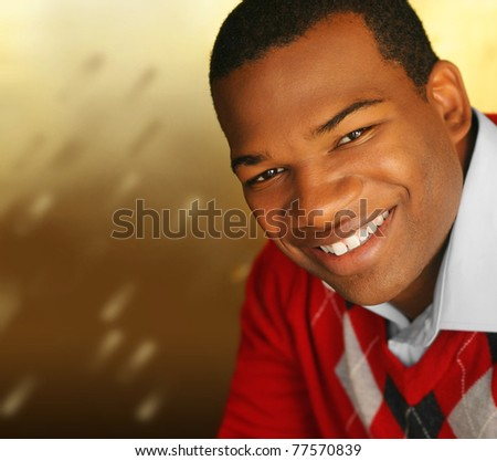 Young African-American male smiling