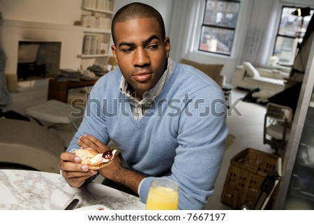 Young African American man - stock photo