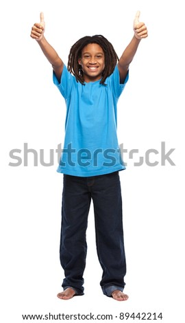 young african boy in studio - stock photo