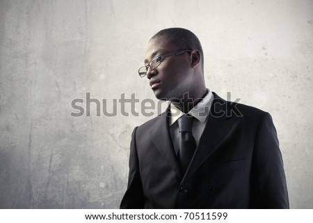 Young african businessman - stock photo