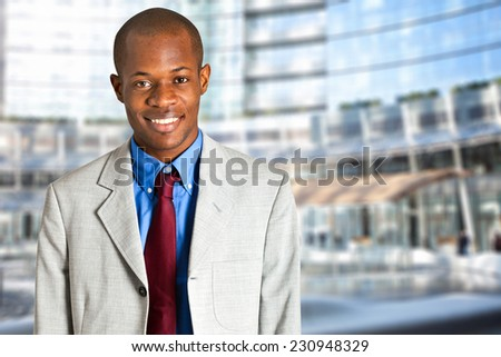 Young african businessman outdoor - stock photo