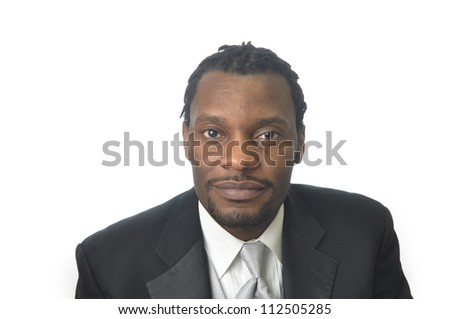 young african male dressed in business attire - stock photo