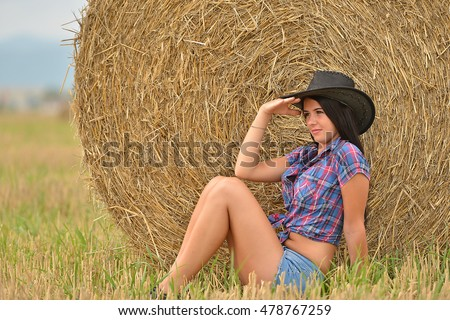 Young american cowgirl