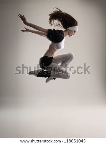 Young and attractive modern dancer - stock photo
