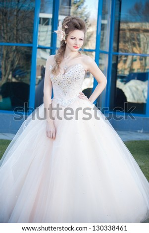 young and beautiful bride - stock photo