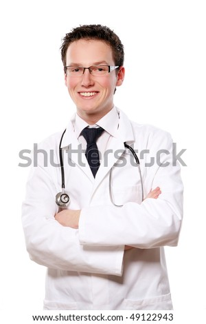 young and beautiful doctor assistant