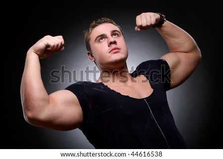 young and beautiful muscles man