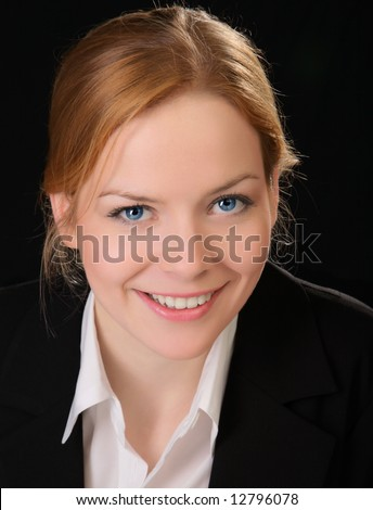 Young and good  looking business woman. Portrait of a beautiful friendly young woman