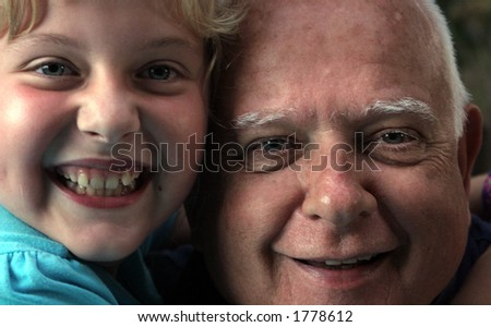 Young and old - stock photo